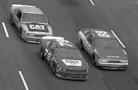 NASCAR Busch Series action  at Darlington Raceway in Darlington, SC on September 2, 1989. (Photo by Brian Cleary/www.bcpix.com)