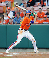 Infielder/shortstop Brad Miller (13) of the Clemson Tigers in a game against the Eastern Michigan Eagles on Friday, Feb. 18, 2011, at Doug Kingsmore Stadium in Clemson, S.C. Photo by Tom Priddy / Four Seam Images