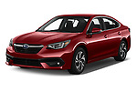 2020 Subaru Legacy Premium 4 Door Sedan Angular Front automotive stock photos of front three quarter view