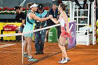 Australian Samantha Stosur and romanian Simona Halep during Mutua Madrid Open Tennis 2016 in Madrid,  May 06, 2016. (ALTERPHOTOS/BorjaB.Hojas) /NortePhoto.com