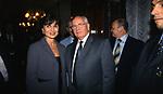 LAURA LAURENZI CON MIKHAIL GORBACIOV <br /> COCKTAIL PARTY N ONORE DI GORBACIOV - HOTEL BAGLIONI ROMA 11-2000
