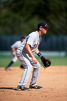 Detroit Tigers Ryan Karstetter (41) during an Instructional League game against the Atlanta Braves on October 10, 2017 at the ESPN Wide World of Sports Complex in Orlando, Florida.  (Mike Janes/Four Seam Images)