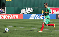 Luis Miguel Noriega scores the first goal for Mexico on a penalty kick. Mexico defeated Nicaragua 2-0 during the First Round of the 2009 CONCACAF Gold Cup at the Oakland, Coliseum in Oakland, California on July 5, 2009.
