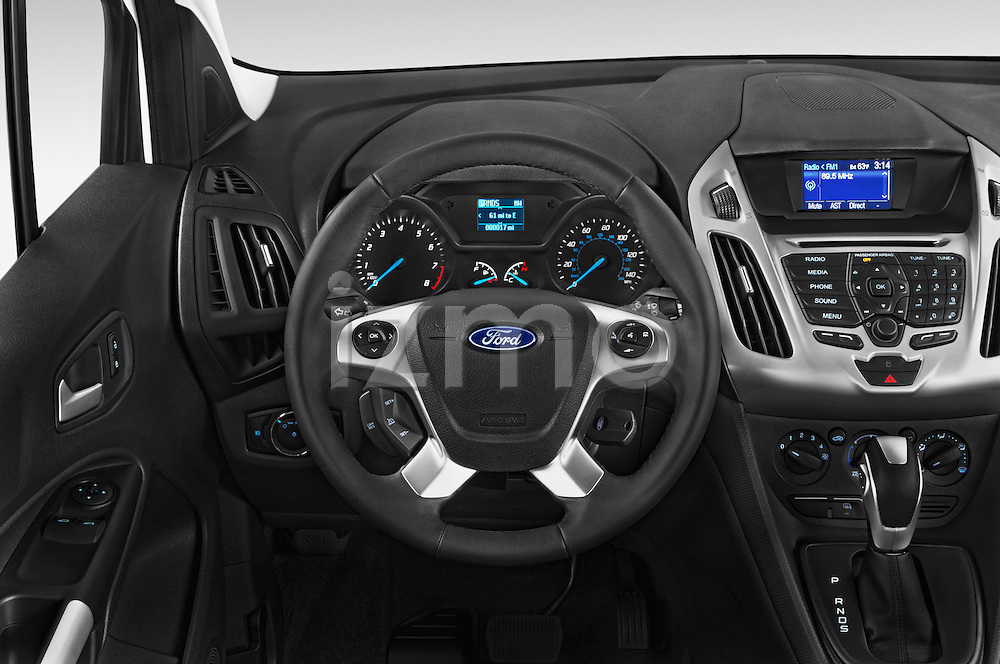 Car pictures of steering wheel view of a 2015 Ford Transit Connect XLT 4 Door Car Van Steering Wheel