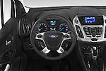 Car pictures of steering wheel view of a 2015 Ford Transit Connect XLT 4 Door Car Van Steering Wheel