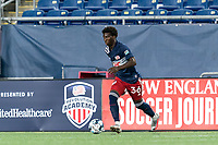 FOXBOROUGH, MA - AUGUST 7: Meny Silva #36 of New England Revolution II dribbles during a game between Orlando City B and New England Revolution II at Gillette Stadium on August 7, 2020 in Foxborough, Massachusetts.