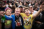 © Joel Goodman - 07973 332324 . . 12/06/2016 . Manchester , UK . De La Soul fans at the Parklife music festival at Heaton Park in Manchester . Photo credit : Joel Goodman