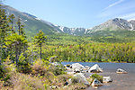 Mount Katahdin's Great Basin seen from Sandy Stream Pond in Baxter State Park, Piscataquis County, ME