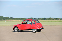 BNPS.co.uk (01202) 558833<br /> Pic: Bonhams/BNPS<br /> <br /> An immaculate left hand drive Citroen 2CV which was one of the last ever produced has sold for almost £21,000.<br /> <br /> The seller stumbled upon an opportunity to buy the rare car in 1990 when he sought shelter from the rain in one of the only showrooms in the world still selling them.<br /> <br /> During a visit to London the seller, who lived in Italy, fled into the Citroen store in Berkeley Square as a sudden storm swept in.<br /> <br /> Attempting to disguise the fact he was hiding from the rain, he complained to a salesman about the French car maker's decision to stop producing the 2CV model.