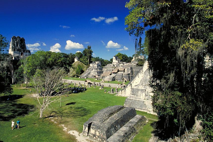 Tikal, Mayan Ruins. Tikal, Guatemala Central America.