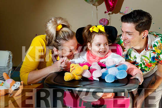 Alexis O'Mahony with her parents Stephen and Teresa O'Mahony, woodlawn Killarney, Alexis celebrated her 4th Birthday on Easter Sunday.