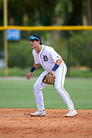 FCL Tigers West shortstop Izaac Pacheco (35) during a game against the FCL Yankees on July 31, 2021 at Tigertown in Lakeland, Florida.  (Mike Janes/Four Seam Images)