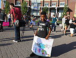7-year old Jakobe during the Black Lives March Against Hate at the Joe Crowley Student Union on the University of Nevada campus in Reno, Nevada on Sunday, August 27, 2017.