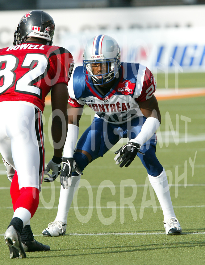 Darel Crutchfield Montreal Alouettes 2005. Photo F. Scott Grant