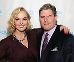 """Angie Schworer and Richard Bird during The """"Mr. Abbott"""" Award 2019 at The Metropolitan Club on 3/25/2019 in New York City."""