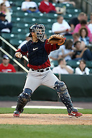 July 1st 2008:  Catcher Jason Jaramillo of the Lehigh Valley IronPigs, Class-AAA affiliate of the Philadelphia Phillies, during a game at Frontier Field in Rochester, NY.  Photo by:  Mike Janes/Four Seam Images