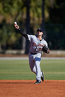 Detroit Tigers Pete Kozma (81) during a Minor League Spring Training intrasquad game on March 24, 2018 at the TigerTown Complex in Lakeland, Florida.  (Mike Janes/Four Seam Images)
