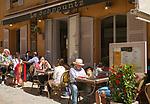 Frankreich, Provence-Alpes-Côte d'Azur, Saint-Tropez: Restaurant Le Schpountz in der Altstadt | France, Provence-Alpes-Côte d'Azur, Saint-Tropez: restaurant Le Schpountz in old town