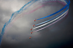 Pix: Shaun Flannery/sf-pictures.com..COPYRIGHT PICTURE>>SHAUN FLANNERY>01302-570814>>07778315553>>..5th July 2009................RAF Waddington airshow..The Red Arrows..Hawk