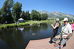 Breast cancer survivor Lisa Kniceley learns from guide Shelly Mooney during a Casting for Recovery retreat in Gardnerville, Nev., on Friday, June 30, 2017. <br /> Photo by Cathleen Allison/Nevada Photo Source