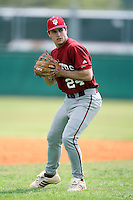 February 22, 2009:  Shortstop Ethan Wilson (24) of Indiana University during the Big East-Big Ten Challenge at Naimoli Complex in St. Petersburg, FL.  Photo by:  Mike Janes/Four Seam Images