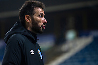 7th November 2020 The John Smiths Stadium, Huddersfield, Yorkshire, England; English Football League Championship Football, Huddersfield Town versus Luton Town; Huddersfield manager Carlos Corberan during his post match interview