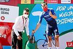 Fabio Jakobsen (NED) Deceuninck-Quick Step wins Stage 4 of La Vuelta d'Espana 2021, running 163.9km from Burgo de Osma to Molina de Aragon, Spain. 17th August 2021.    <br /> Picture: Luis Angel Gomez/Photogomezsport | Cyclefile<br /> <br /> All photos usage must carry mandatory copyright credit (© Cyclefile | Luis Angel Gomez/Photogomezsport)