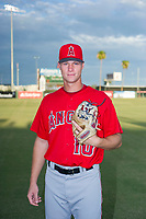 AZL Angels Tyler Walsh (10) poses for a photo before a game against the AZL Diamondbacks on August 20, 2017 at Diablo Stadium in Tempe, Arizona. AZL Angels defeated the AZL Diamondbacks 19-1. (Zachary Lucy/Four Seam Images)
