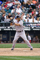July 23, 2008:  The Boston Red Sox's Mike Lowell at-bat during a game against the Seattle Mariners at Safeco Field in Seattle, Washington.