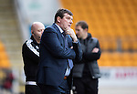 St Johnstone v Partick Thistle…29.10.16..  McDiarmid Park   SPFL<br />Tommy Wright looks on<br />Picture by Graeme Hart.<br />Copyright Perthshire Picture Agency<br />Tel: 01738 623350  Mobile: 07990 594431