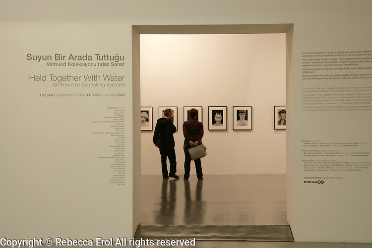 'Held Together With Water' exhibition from the Verbund Collection at the Istanbul Modern museum, Istanbul, Turkey