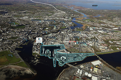 Galway Harbour Development an aerial view