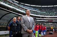 Mexico City, Mexico - Sunday June 11, 2017: Bruce Arena, USMNT, Estadio Azteca during a 2018 FIFA World Cup Qualifying Final Round match with both men's national teams of the United States (USA) and Mexico (MEX) playing to a 1-1 draw at Azteca Stadium.