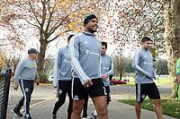 TUKWILA, WA - NOVEMBER 08: Roman Torres #29 of the Seattle Sounders FC heads to training at Starfire Sports Complex on November 08, 2019 in Tukwila, Washington.