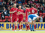 St Johnstone v Aberdeen…01.07.17  McDiarmid Park     Pre-Season Friendly <br />Adam Rooney celebrates his goal<br />Picture by Graeme Hart.<br />Copyright Perthshire Picture Agency<br />Tel: 01738 623350  Mobile: 07990 594431