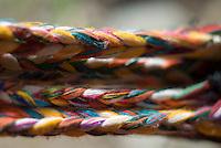Close-up of woven hammock, Los Quezales, Parque Internacional La Amistad, Panama