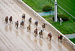 LOUISVILLE, KY - MAY 05: Benner Island #1, ridden by Javier Castellano, leads the field down the home stretch to win the Eight Belles Stakeson Kentucky Oaks Day at Churchill Downs on May 5, 2017 in Louisville, Kentucky. (Photo by Jon Durr/Eclipse Sportswire/Getty Images)