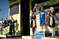 yellow jersey / GC leader Julian Alaphilippe (FRA/Deceuninck - Quick-Step) surprisingly wins the TT stage around Pau <br /> <br /> Stage 13 (ITT): Pau to Pau (27km)<br /> 106th Tour de France 2019 (2.UWT)<br /> <br /> ©kramon