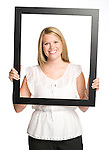 Sarah Brooke Gober holds a picture frame in Oxford, Miss. on Tuesday, August 30, 2011.