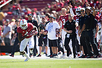 STANFORD, CA - September 15, 2018: Alameen Murphy at Stanford Stadium. The Stanford Cardinal defeated UC Davis, 30-10.