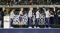 CHICAGO, ILLINOIS - JULY 07: Gregg Berhalter and the USMNT receive their second place medals during the 2019 CONCACAF Gold Cup Final match between the United States and Mexico at Soldier Field on July 07, 2019 in Chicago, Illinois.