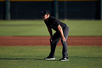 Umpire Luke Morris during an Arizona League game between the AZL Angels and AZL Giants Black at the Giants Baseball Complex on June 21, 2019 in Scottsdale, Arizona. AZL Angels defeated AZL Giants Black 6-3. (Zachary Lucy/Four Seam Images)