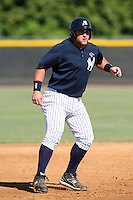 New York Yankees minor league first baseman Kyle Roller (58) vs. the Pittsburgh Pirates in an Instructional League game at the New York Yankees Minor League Complex in Tampa, Florida;  October 8, 2010.  Photo By Mike Janes/Four Seam Images