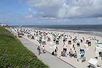 Hauptstrand von Wangerooge - Wangerooge 20.07.2020: Flug nach Wangerooge