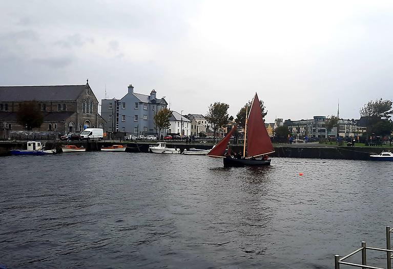 Loveen sailing  on the Claddagh basin Photo: Bartley Fannin