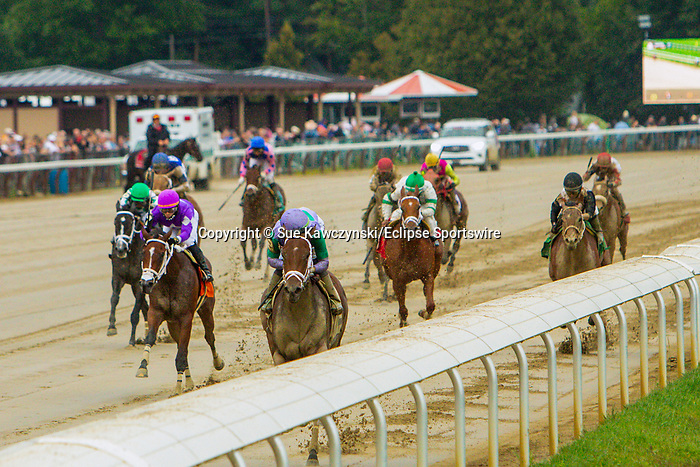 SEPT 05, 2021: Classy Edition, #2, ridden by Irad Ortiz Jr., wins the 7th race for 2-year old fillies, NY-Bred.<br />  going 5 1/2 furlongs, at Saratoga Racecourse, Saratoga Springs, New York. Sue Kawczynski/Eclipse Sportswire/CSM