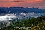 Evening mist settling in the Rondout Valley near Ellenville, Ulster County, New York