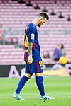 Lionel Andres Messi of FC Barcelona reacts during the La Liga 2017-18 match between FC Barcelona and Las Palmas at Camp Nou on 01 October 2017 in Barcelona, Spain. (Photo by Vicens Gimenez / Power Sport Images