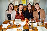Enjoying the evening in Bella Bia on Friday, l to r: Sorcha Lyne (Tralee), Sinead O'Sullivan (Ballymac), Orla Keane (Ardfert)and Laura McElligott (Annascual).