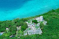 Aerial view of Annaberg Plantation ruins<br /> Virgin Islands National Park<br /> St. John<br /> U.S. Virgin Islands